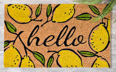 Kirklands lemon doormat