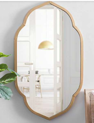 Kirklands gold scallop wall mirror